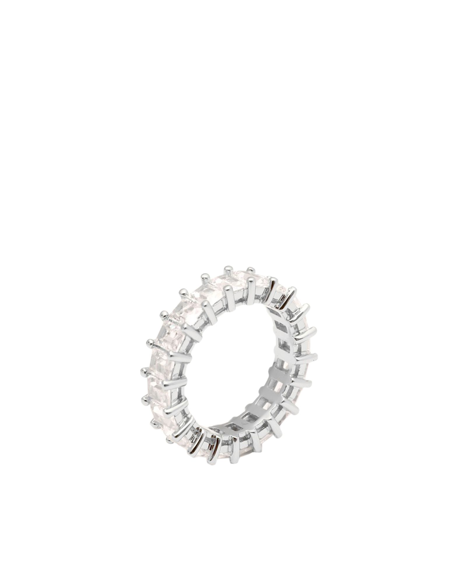 《セール開催中》LUV AJ レディース 指輪 シルバー 5 真鍮/ブラス / クリスタル EMERALD BALLIER RING