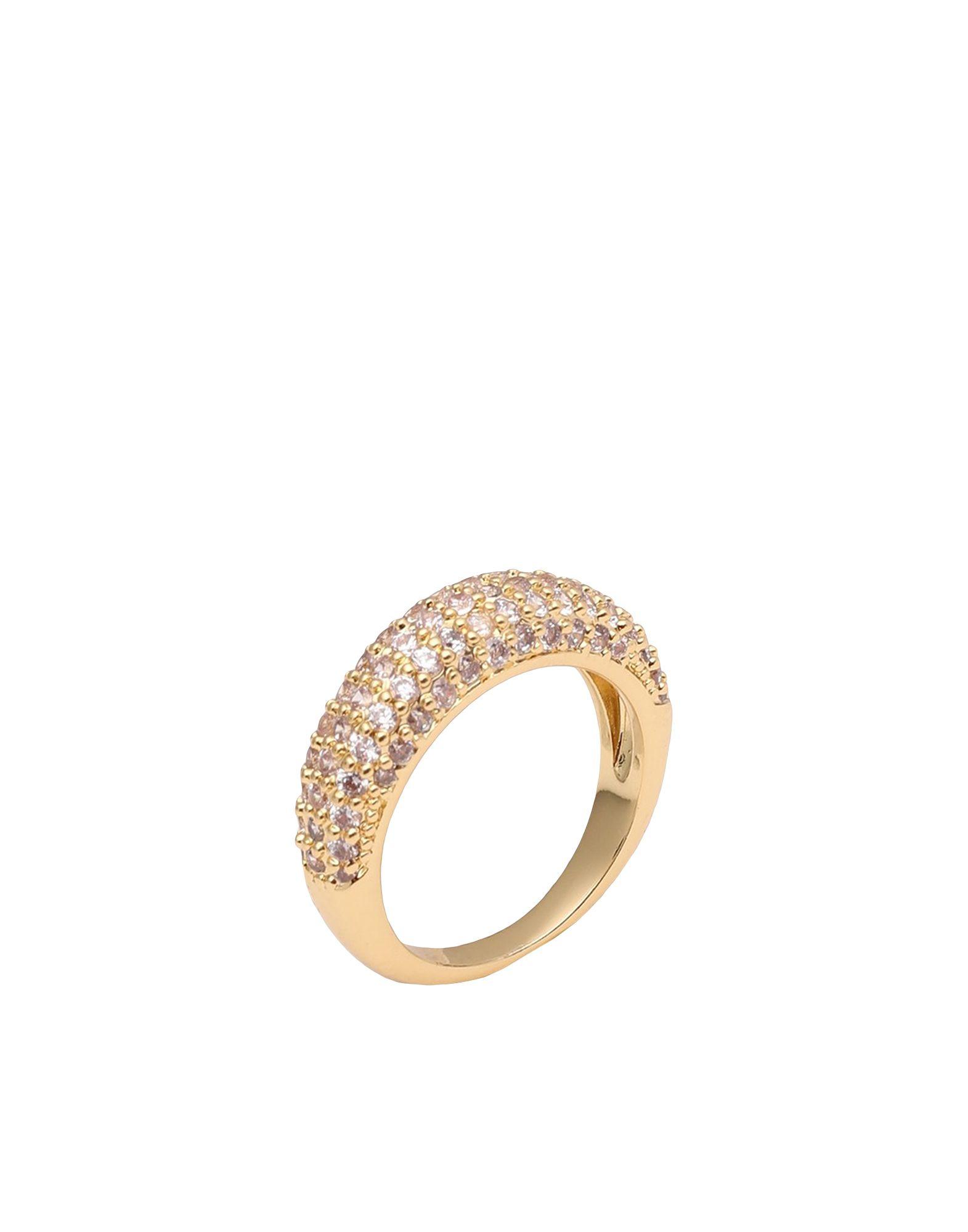 《セール開催中》LUV AJ レディース 指輪 ゴールド 6 真鍮/ブラス / クリスタル PAVE TUBE RING