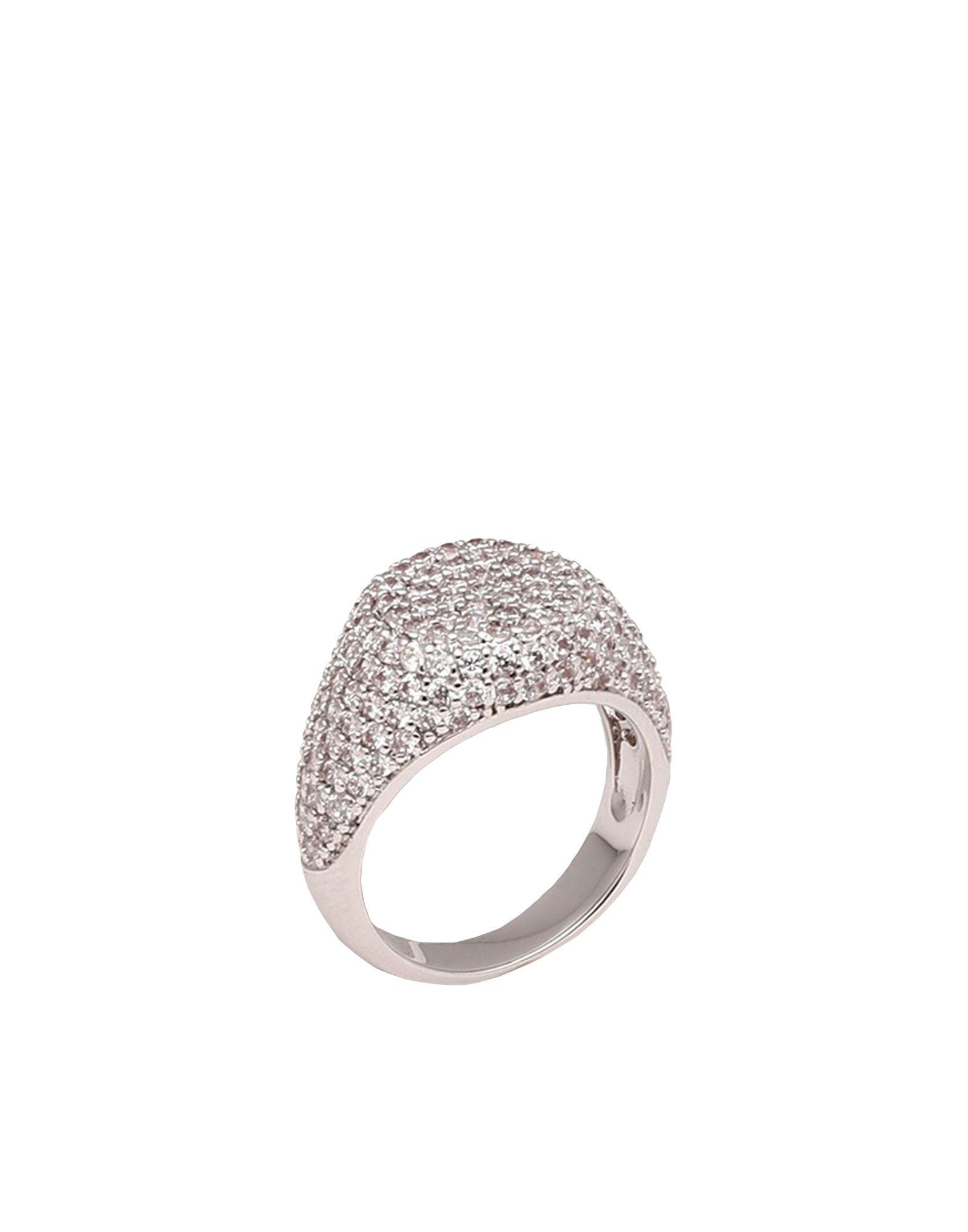 《セール開催中》LUV AJ レディース 指輪 シルバー 5 真鍮/ブラス / クリスタル PAVE SIGNET RING