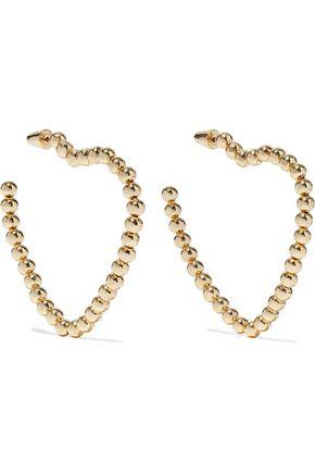 NOIR JEWELRY 14-karat gold-plated hoop earrings