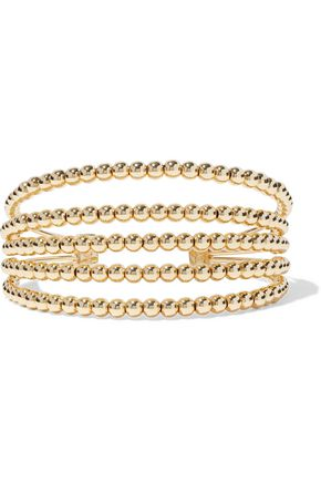 NOIR JEWELRY 14-karat gold-plated cuff