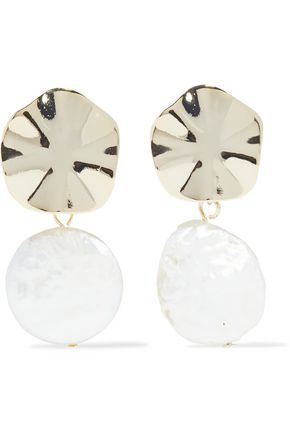 IRIS & INK Kim gold-plated faux pearl earrings