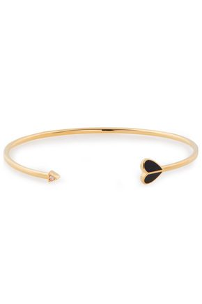 KATE SPADE New York Gold-tone, crystal and enamel cuff