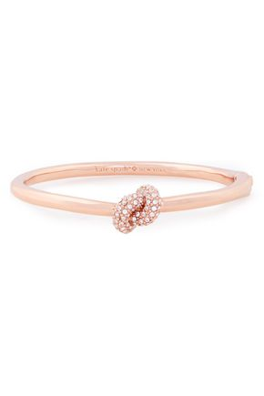 KATE SPADE New York Rose gold-tone crystal bangle