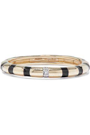 ADINA REYTER 14-karat gold, diamond and enamel ring