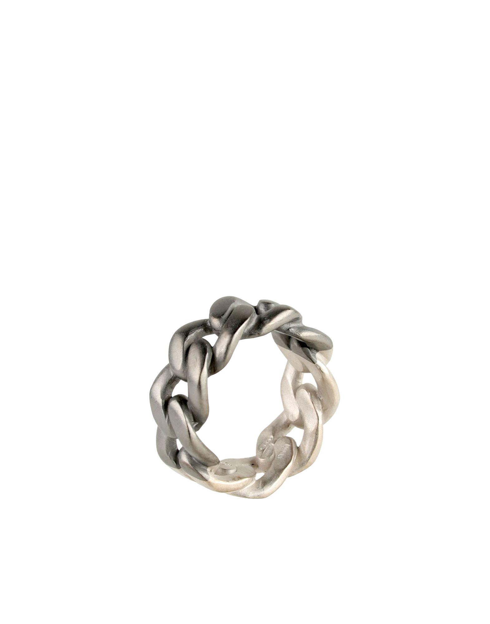 《セール開催中》MAISON MARGIELA メンズ 指輪 鉛色 M シルバー925/1000 100%