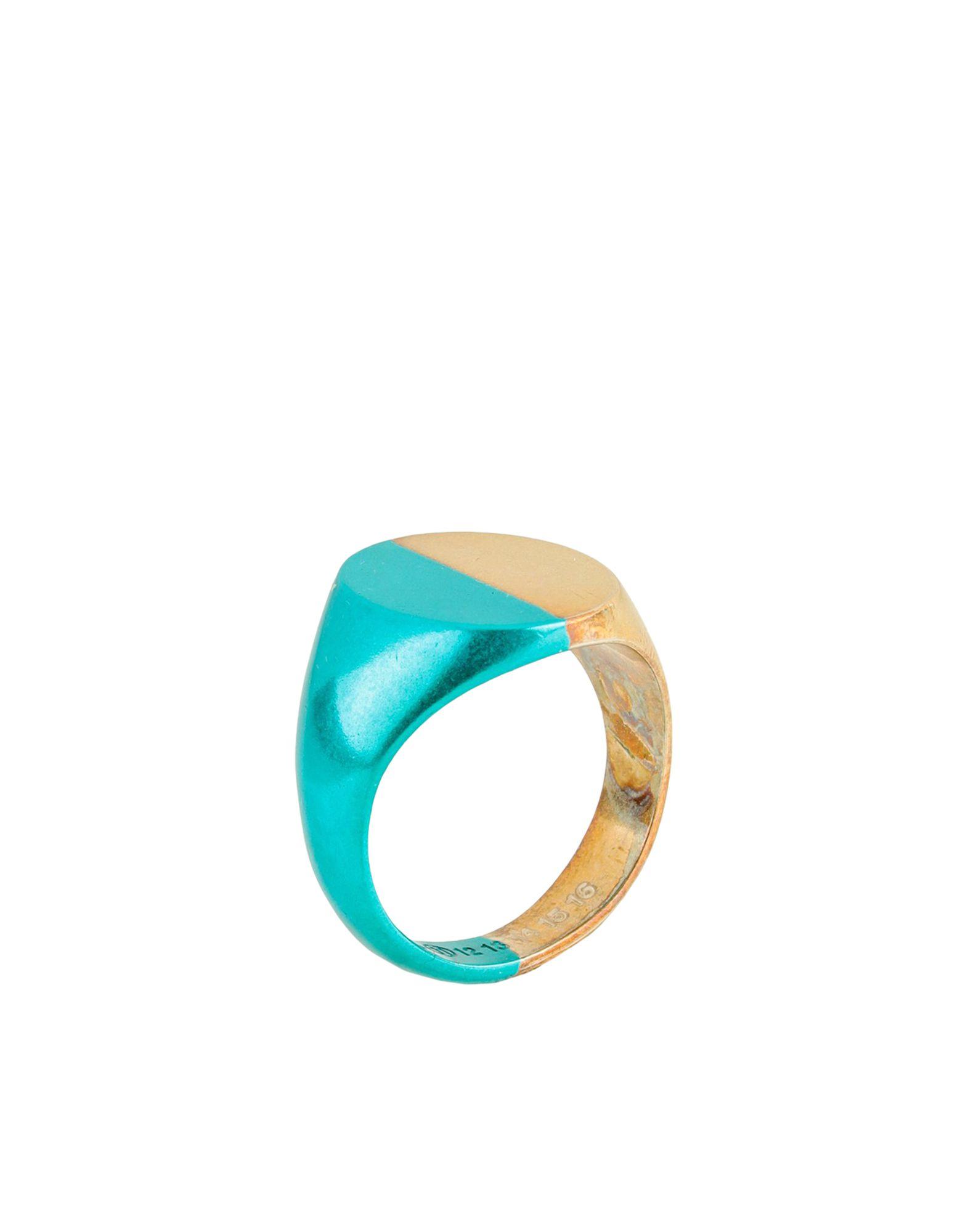 《セール開催中》MAISON MARGIELA メンズ 指輪 ターコイズブルー S シルバー925/1000 100%