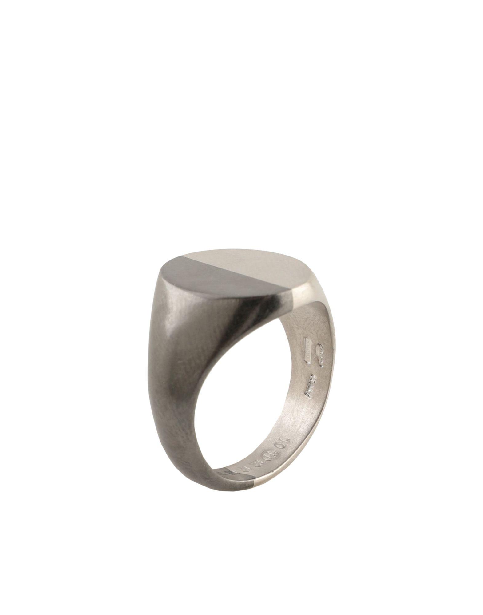 《セール開催中》MAISON MARGIELA メンズ 指輪 グレー S シルバー925/1000 100%