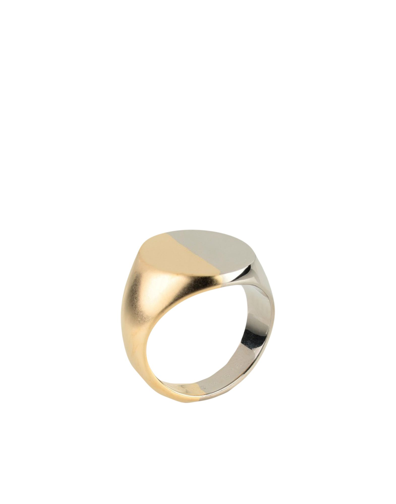 《セール開催中》MAISON MARGIELA レディース 指輪 ゴールド S 真鍮/ブラス 100%