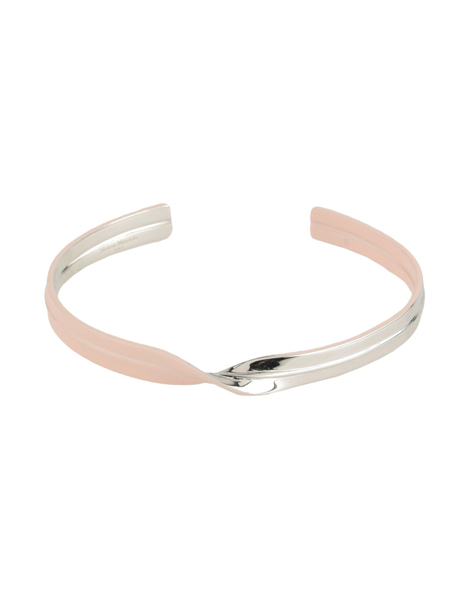 《セール開催中》MAISON MARGIELA レディース ブレスレット ピンク M 真鍮/ブラス 100%