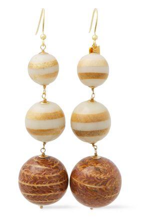 ROSANTICA Gold-tone bead earrings