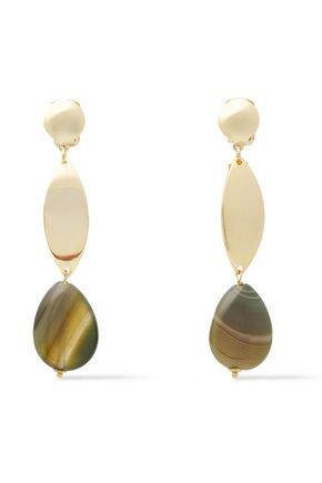 ROSANTICA Oro gold-tone quartz earrings