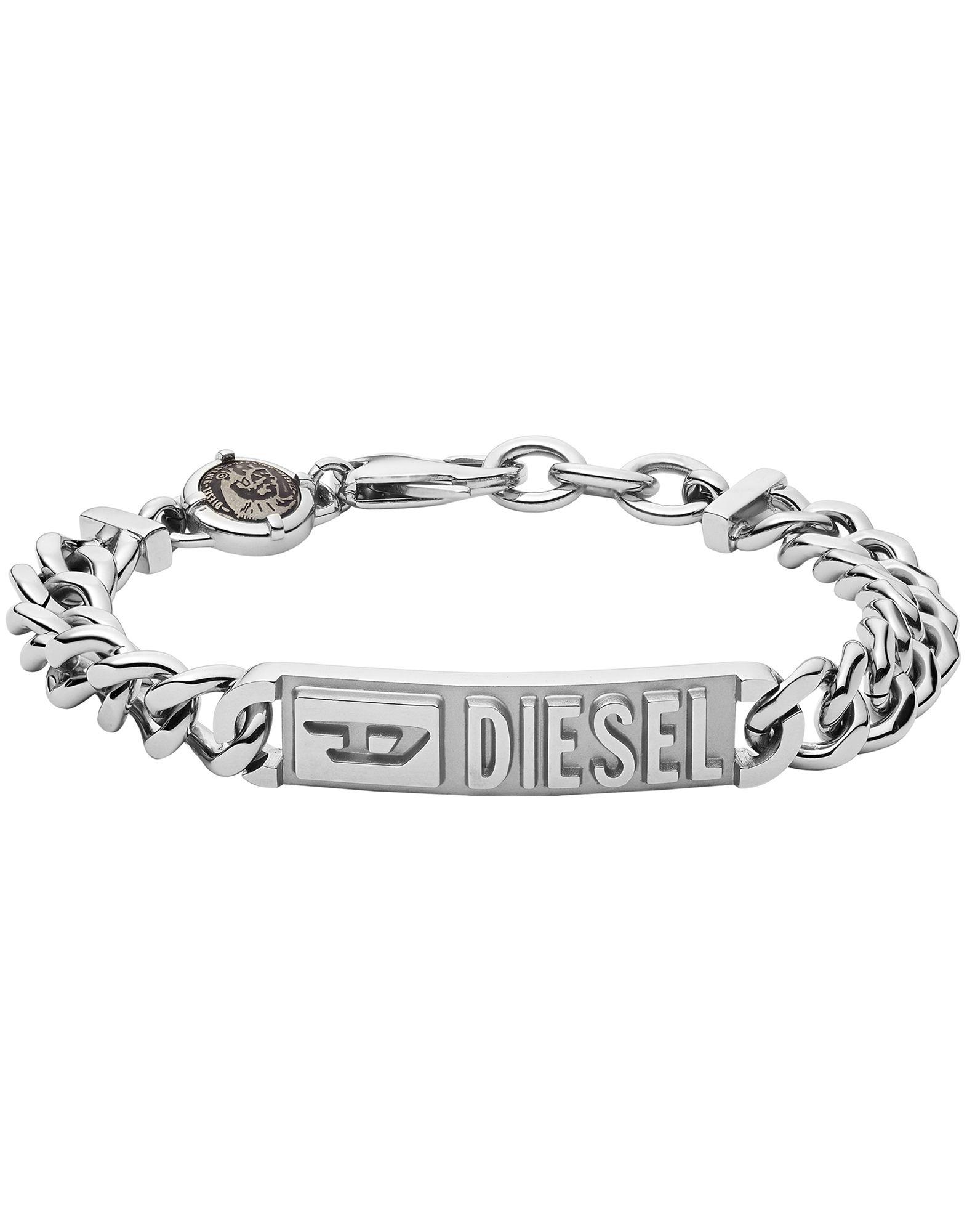 《セール開催中》DIESEL メンズ ブレスレット シルバー ステンレススチール