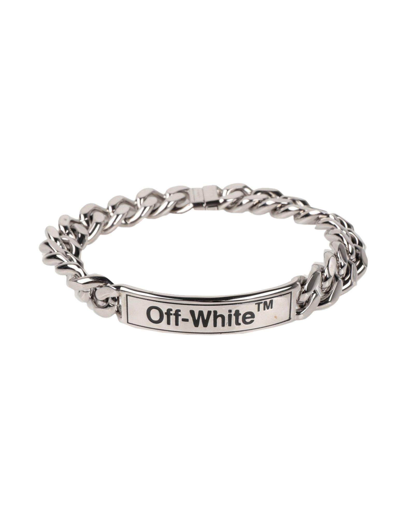 OFF-WHITE™ Bracelets. logo, pointelle-knit. 100% Metal