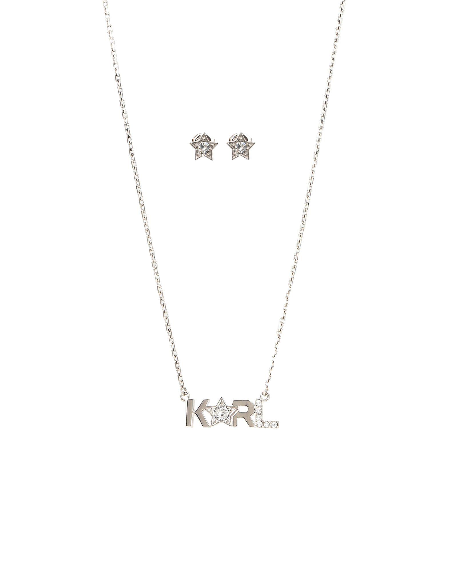 《セール開催中》KARL LAGERFELD レディース ジュエリーセット シルバー 真鍮/ブラス / スワロフスキー KARL STAR BOX SET