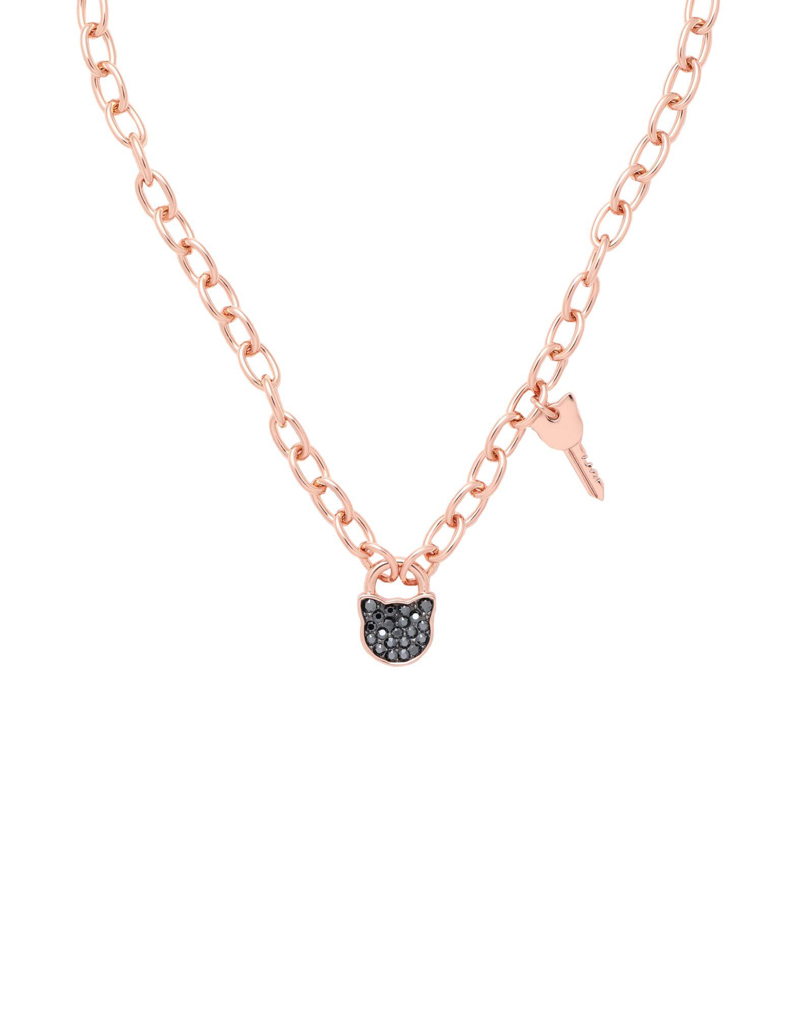 《セール開催中》KARL LAGERFELD レディース ネックレス カッパー 真鍮/ブラス / スワロフスキー SMALL CHOUPETTE LOCK & KEY