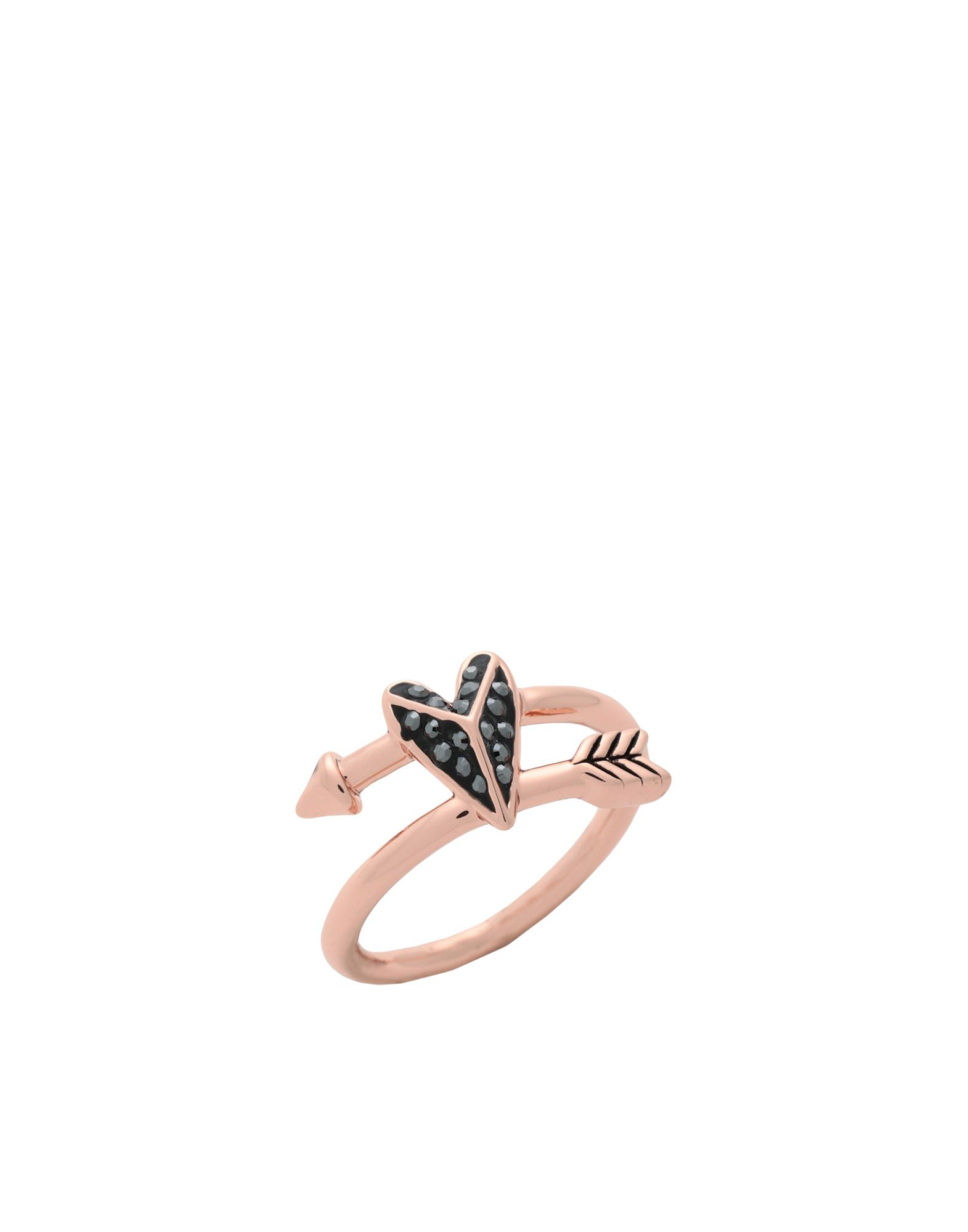 《セール開催中》KARL LAGERFELD レディース 指輪 カッパー 52 真鍮/ブラス / スワロフスキー HEARTS AND ARROWS BYPASS