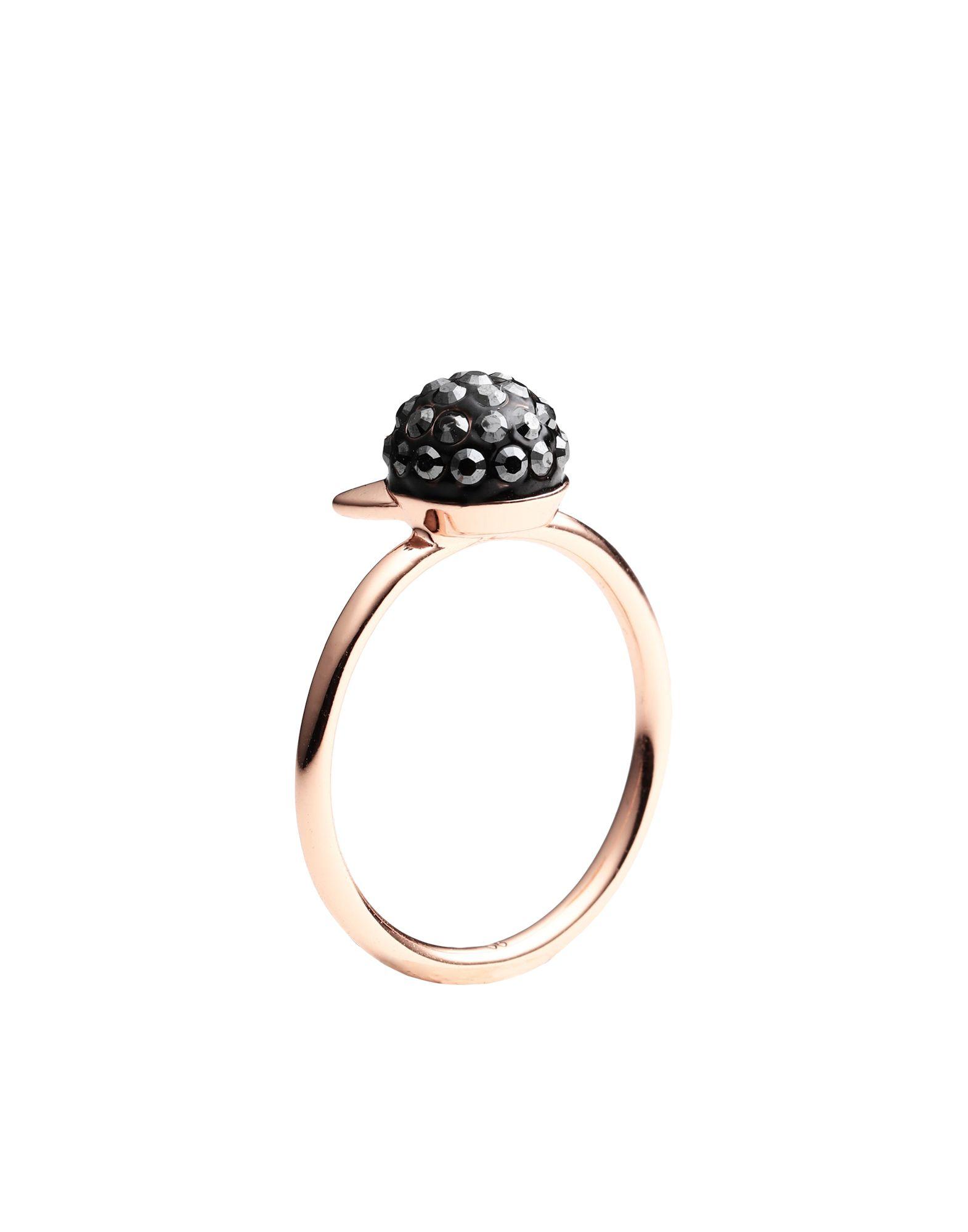 《セール開催中》KARL LAGERFELD レディース 指輪 カッパー 52 真鍮/ブラス / スワロフスキー CRYSTAL CHOUPETTE RG