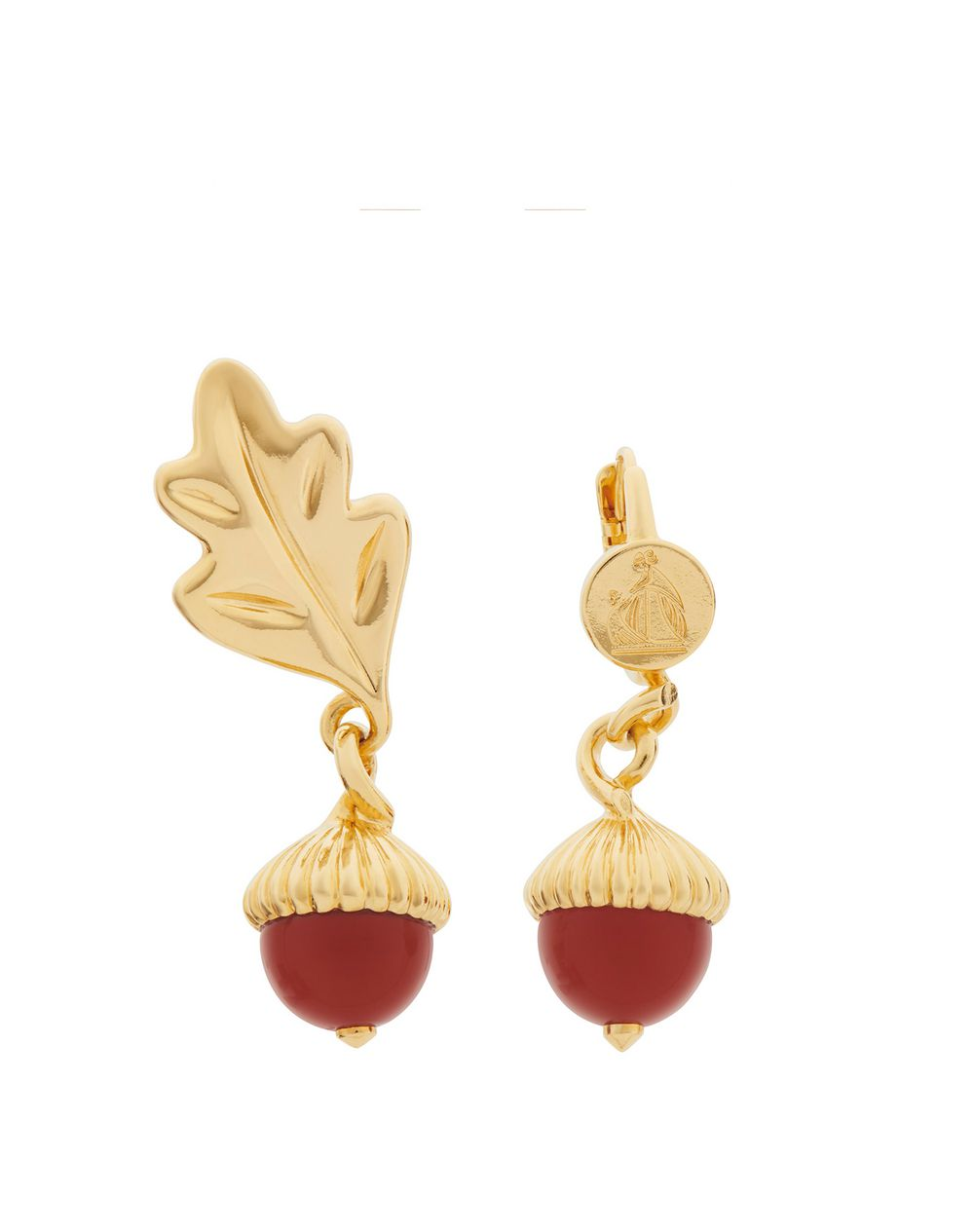 AUTUMN DAY EARRINGS WITH CARNELIAN - Lanvin