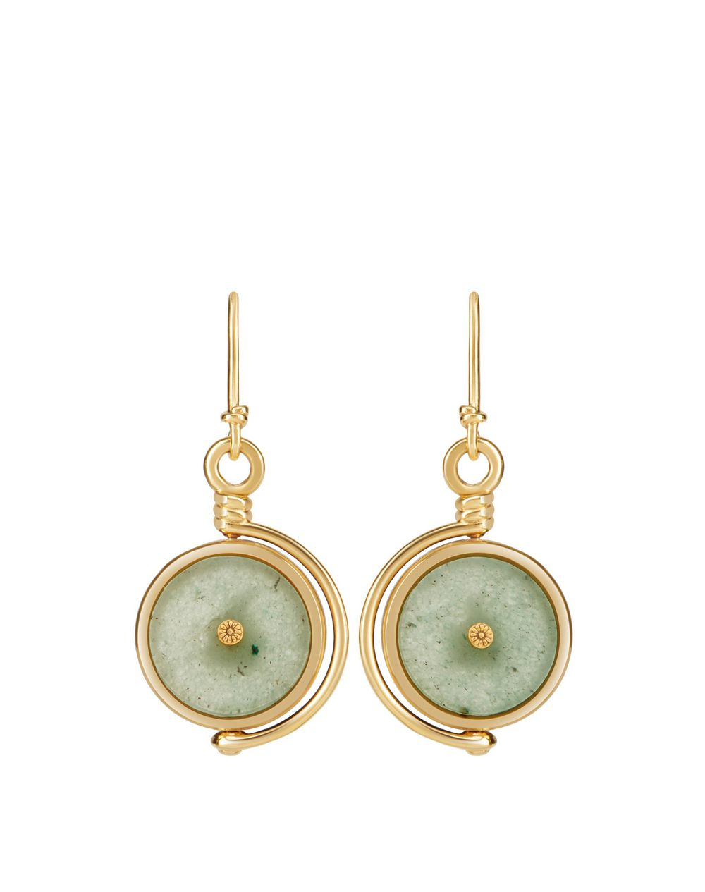 MOTHER AND CHILD EARRINGS WITH CANADIAN JADE - Lanvin