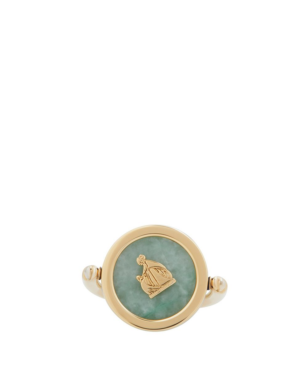 MOTHER AND CHILD RING WITH CANADIAN JADE - Lanvin