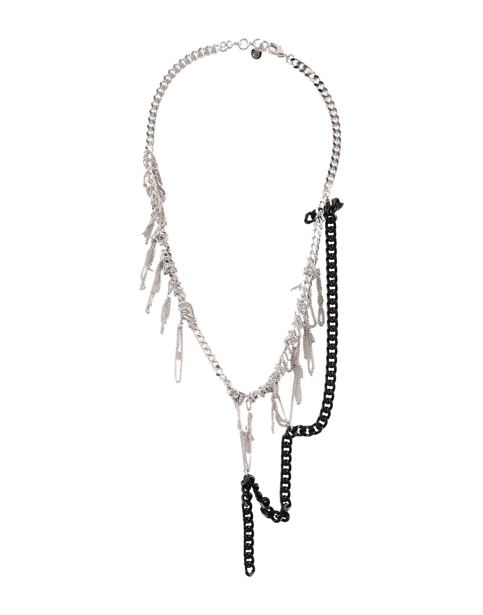 《セール開催中》MM6 MAISON MARGIELA レディース ネックレス シルバー 真鍮/ブラス