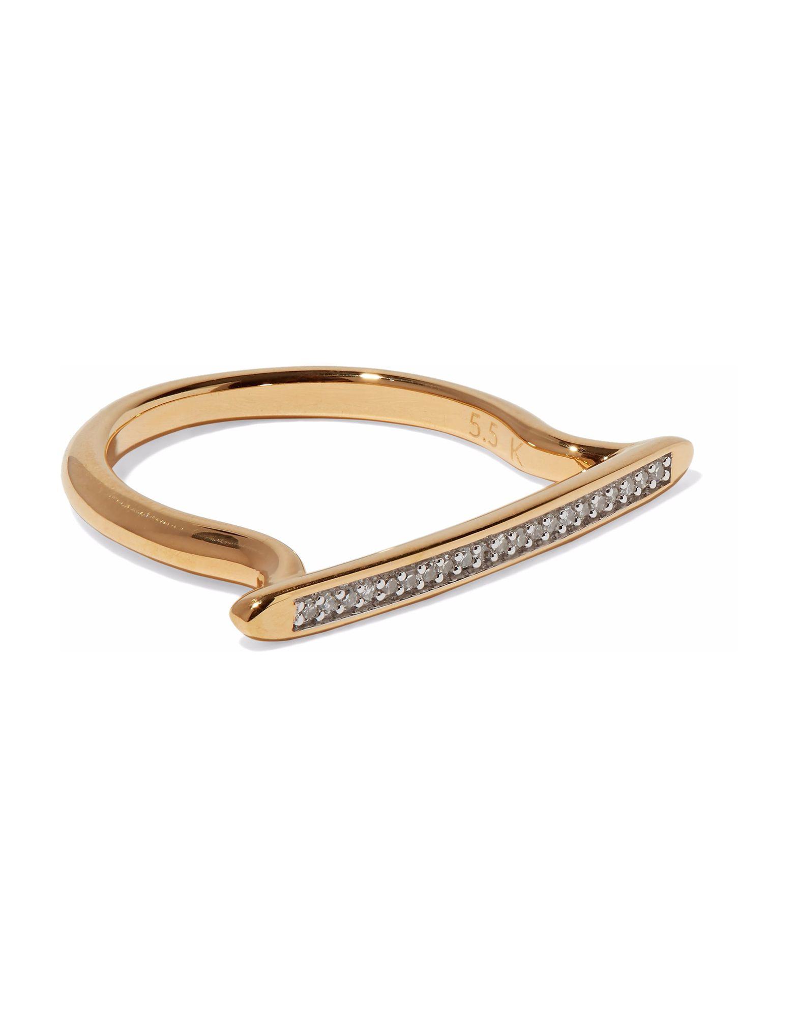 《セール開催中》MONICA VINADER レディース 指輪 ホワイト 4 シルバー925/1000