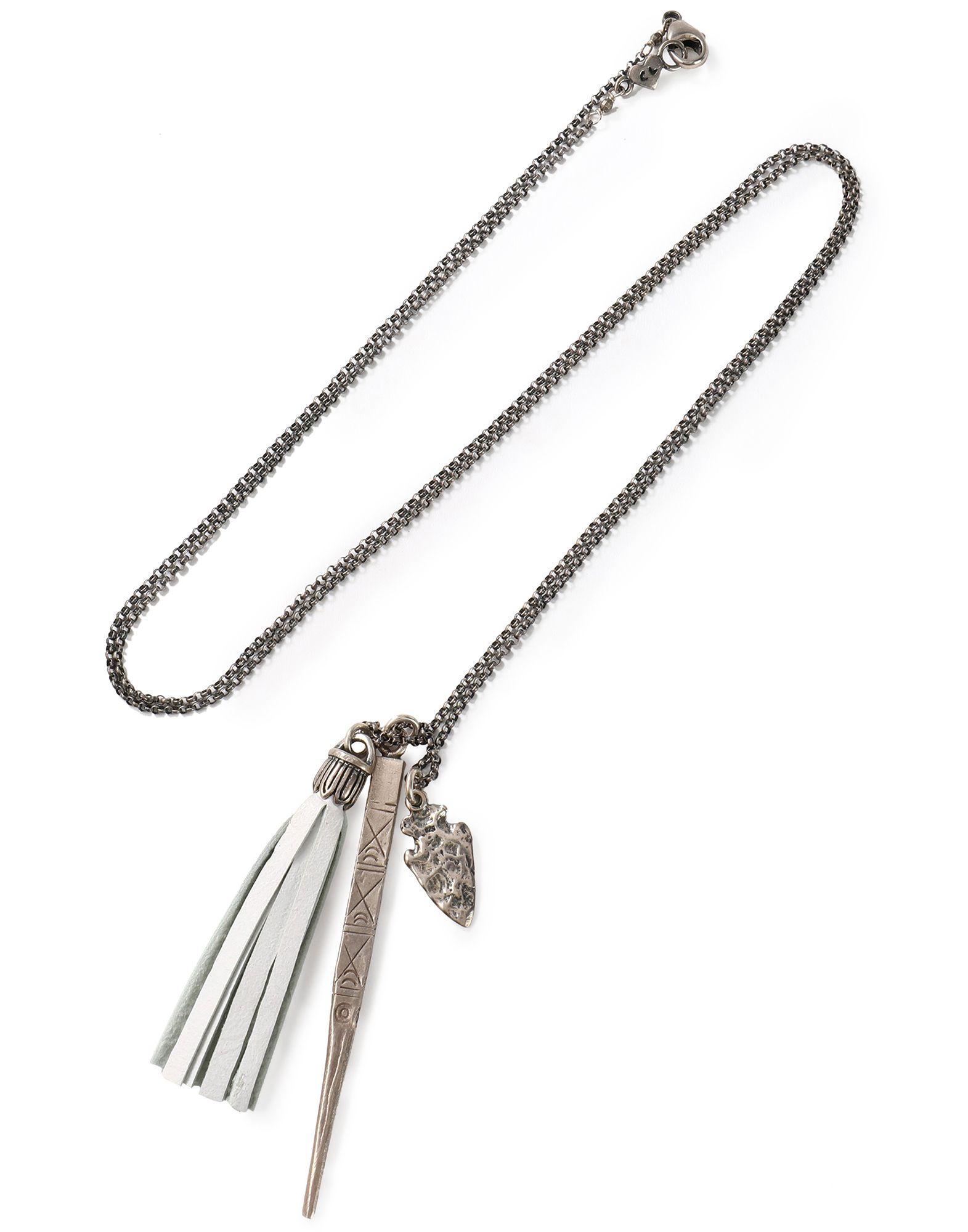 《セール開催中》CHAN LUU レディース ネックレス 鉛色 金属 / 革