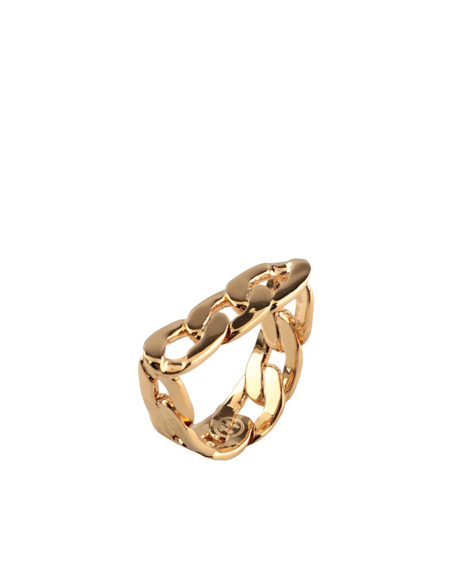 《セール開催中》MAISON MARGIELA レディース 指輪 ゴールド XS 真鍮/ブラス 100%