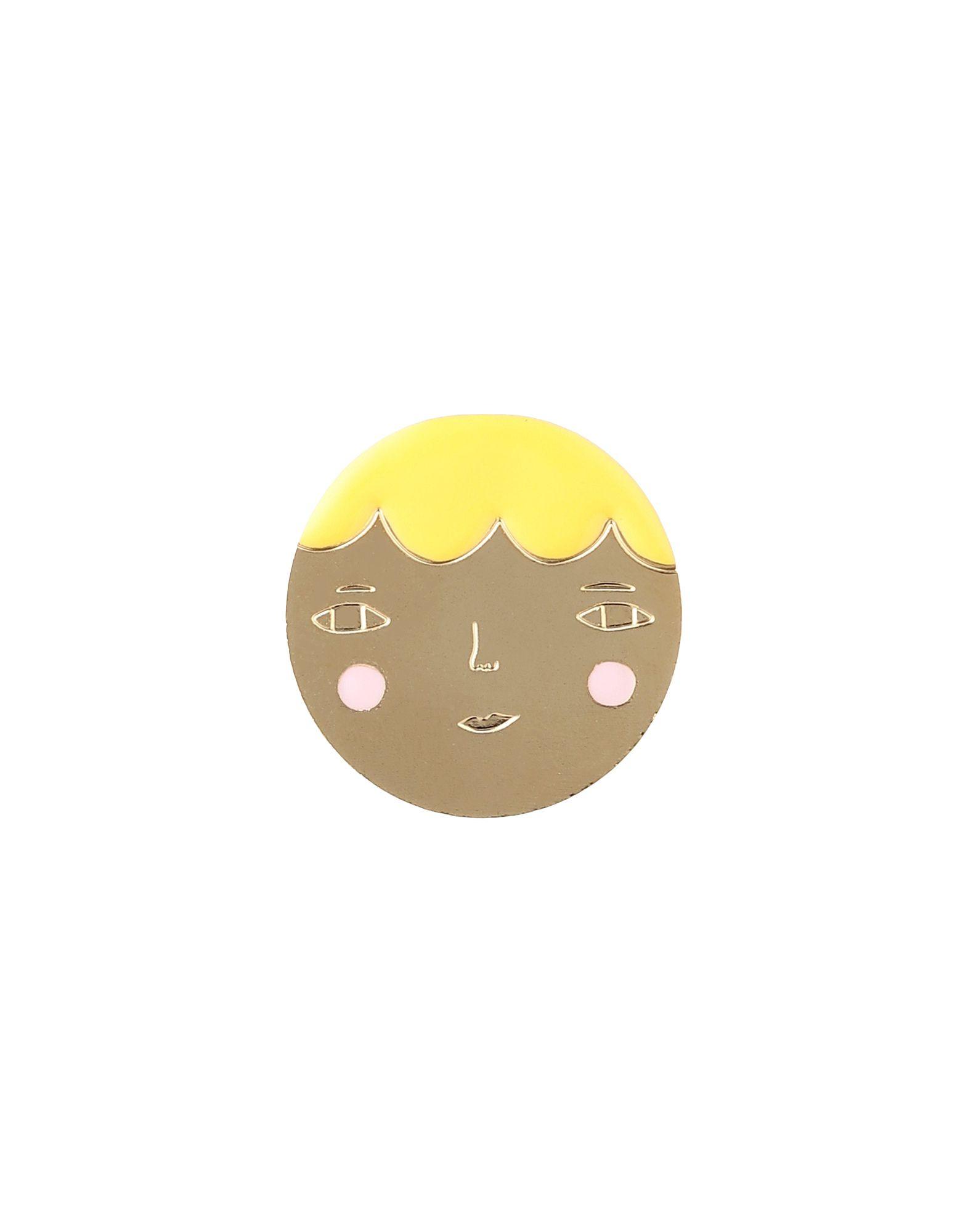 《セール開催中》TITLEE x DONNA WILSON レディース ブローチ ゴールド 真鍮/ブラス / 24金メッキ