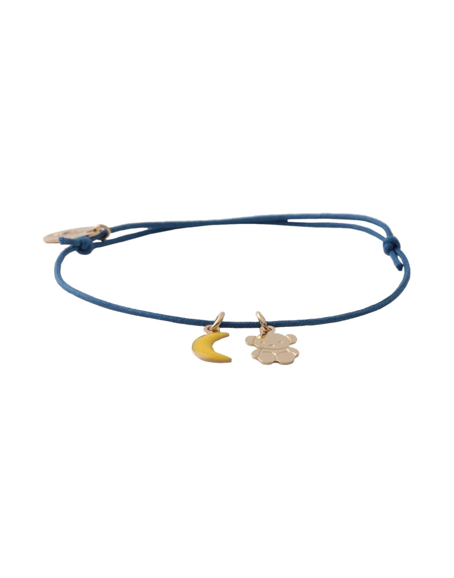 《セール開催中》TITLEE レディース ブレスレット ブルー 真鍮/ブラス / 24金メッキ / コットン