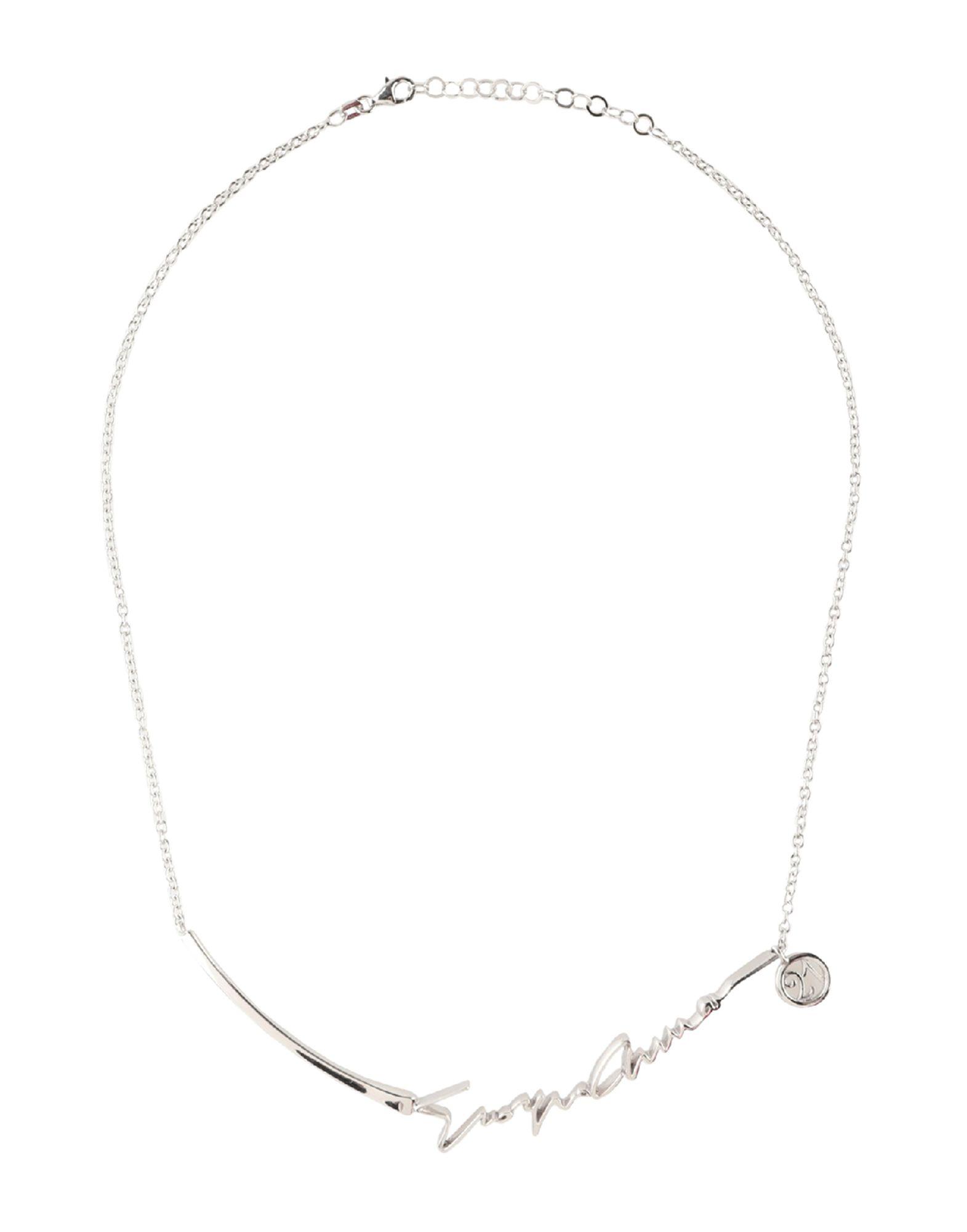 GIORGIO ARMANI Necklaces. logo, hook fastening. Silver