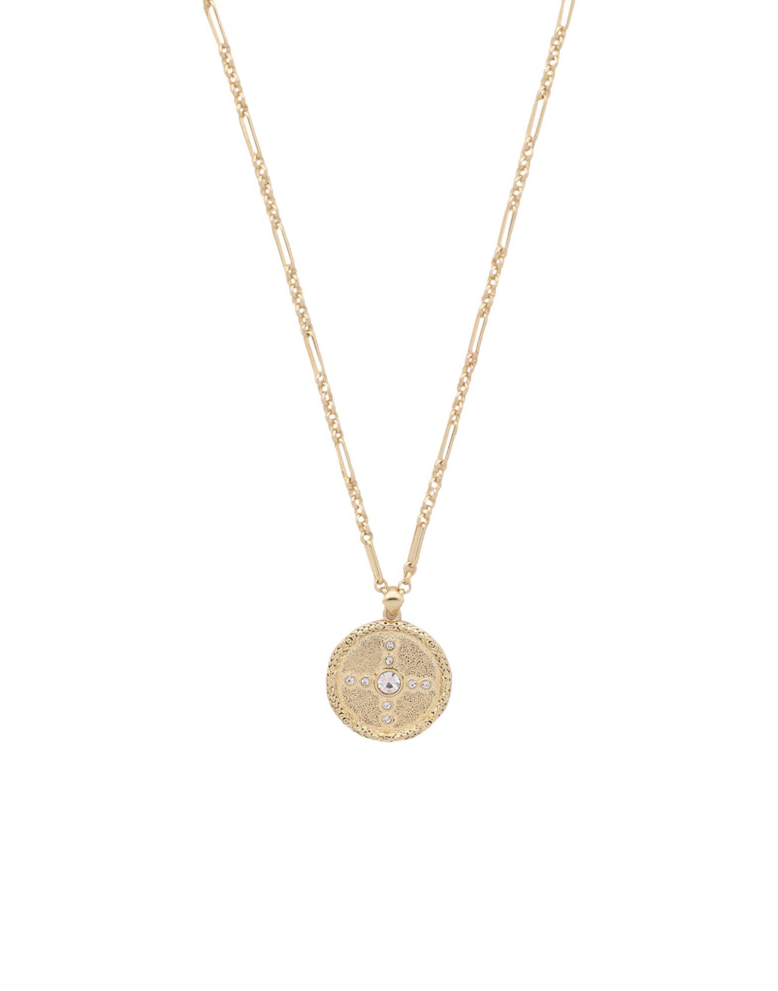 《セール開催中》LUV AJ レディース ネックレス ゴールド 真鍮/ブラス / クリスタル PAVE POLARIS CHARM NECKLACE