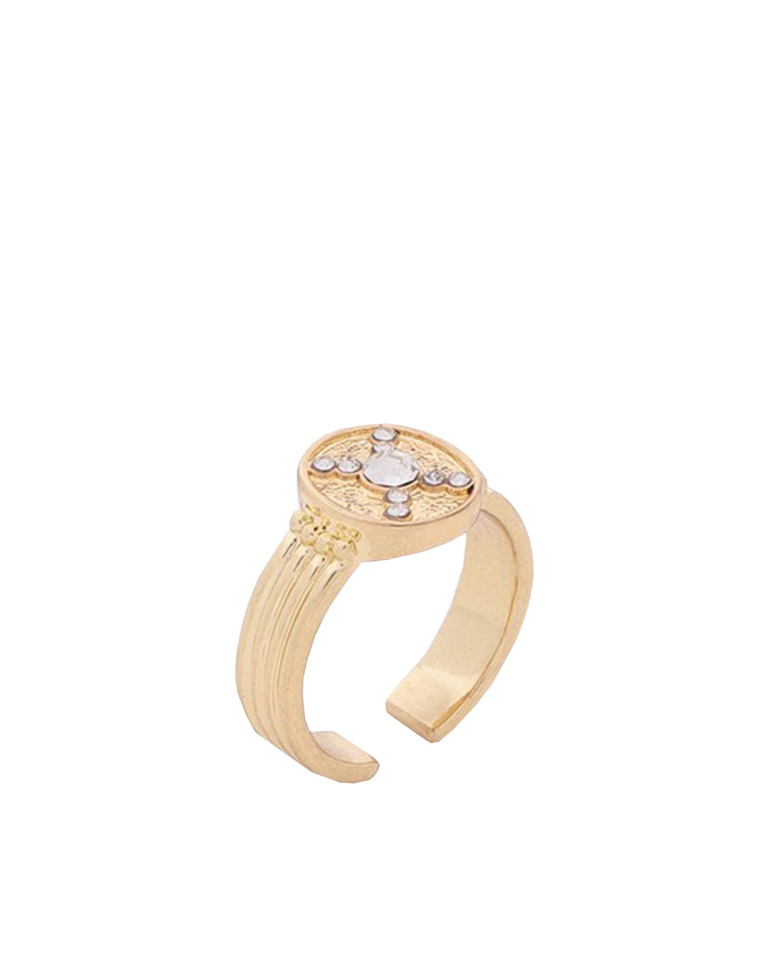 《セール開催中》LUV AJ レディース 指輪 ゴールド 6 真鍮/ブラス / クリスタル PAVE POLARIS RING