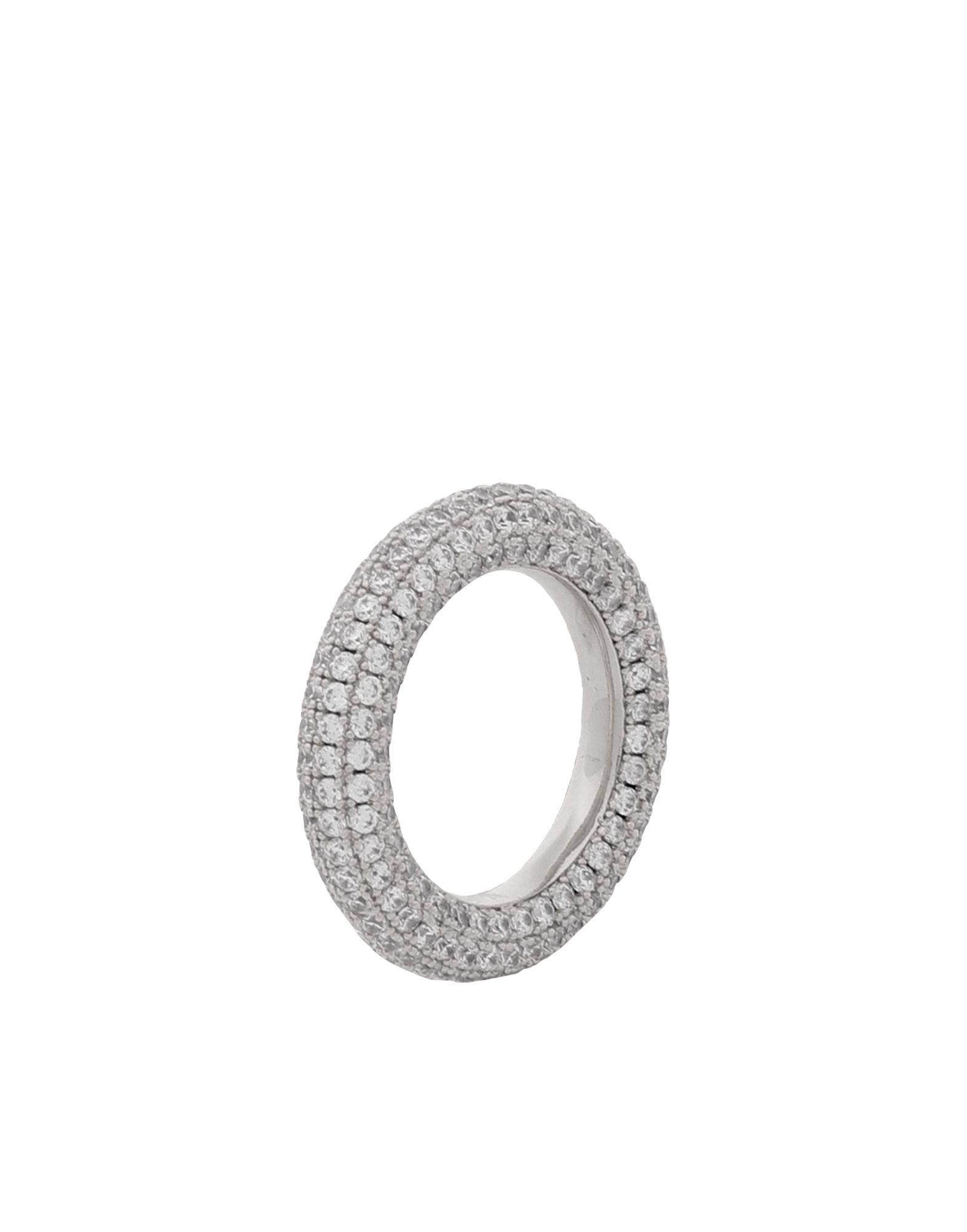 《セール開催中》LUV AJ レディース 指輪 シルバー 5 真鍮/ブラス / クリスタル PAV? AMALFI RING