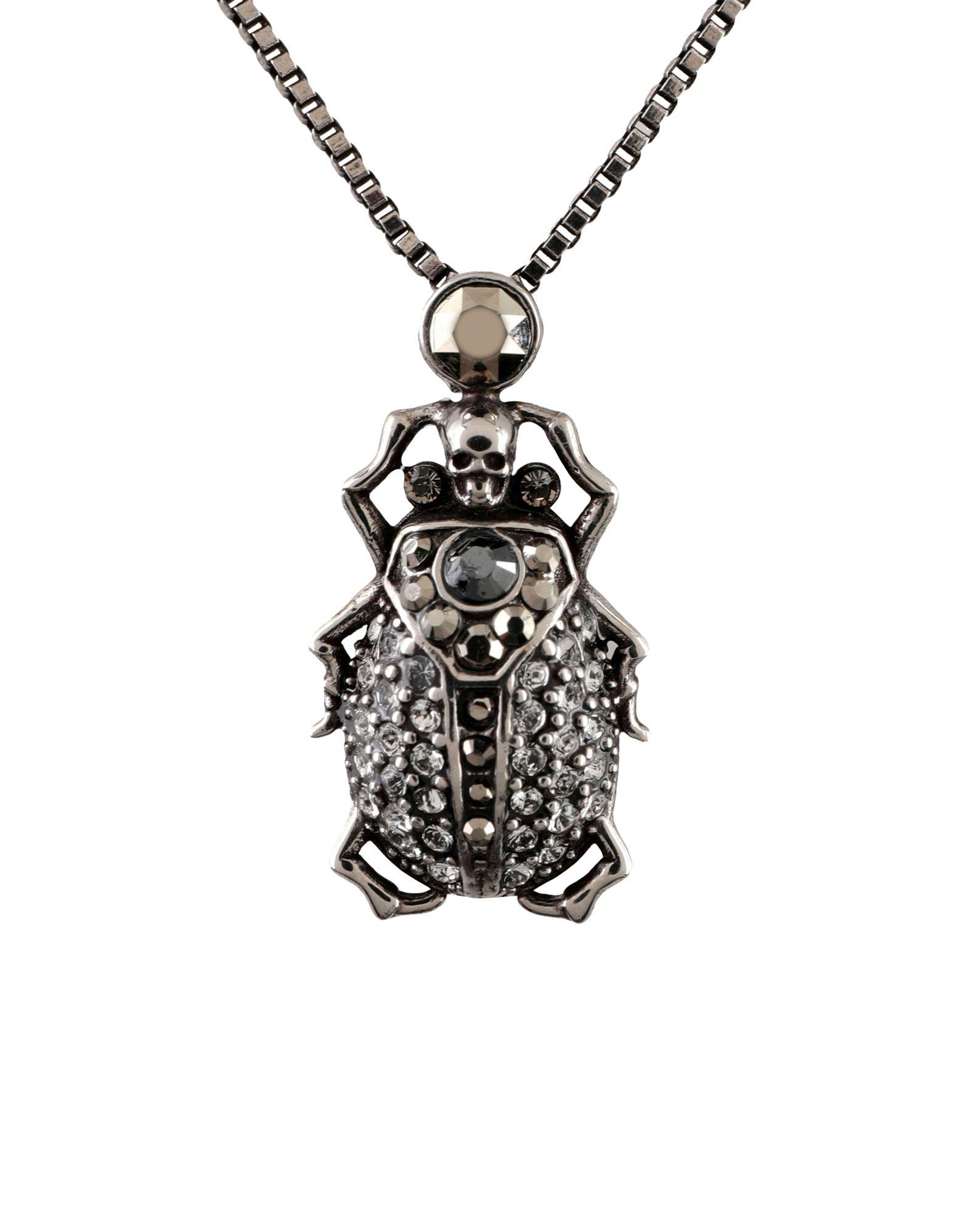 ALEXANDER MCQUEEN Necklaces. rhinestones, hook fastening. Metal