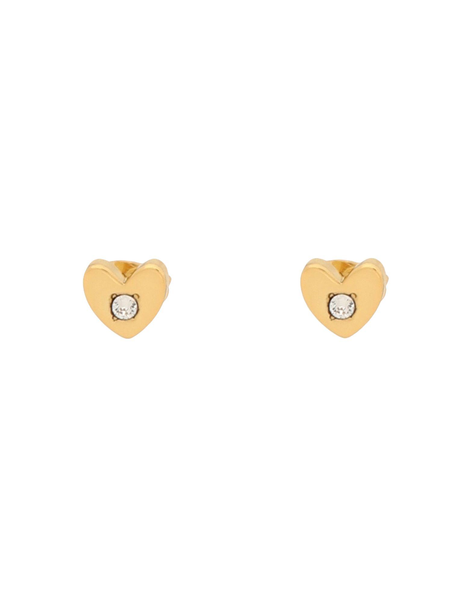 《セール開催中》FURLA レディース イヤリング ゴールド 金属 95% / ガラス 5% FURLA LOVE HEART EARRING