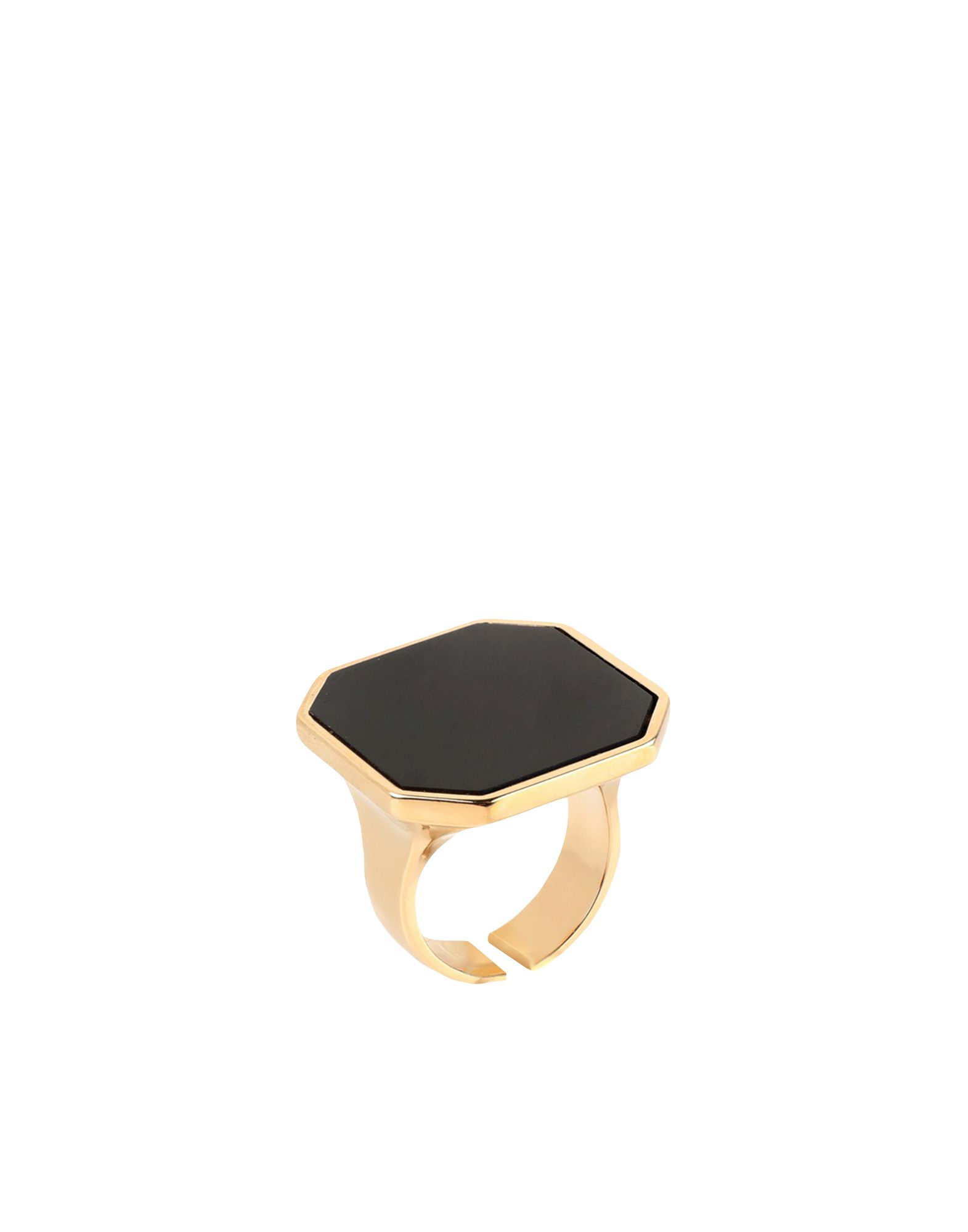 ISABEL MARANT Rings. logo, no fastening, any incidental differences in the material\\\'s pattern are a guarantee of the product\\\'s originality. 80% Brass, 20% Natural Stone