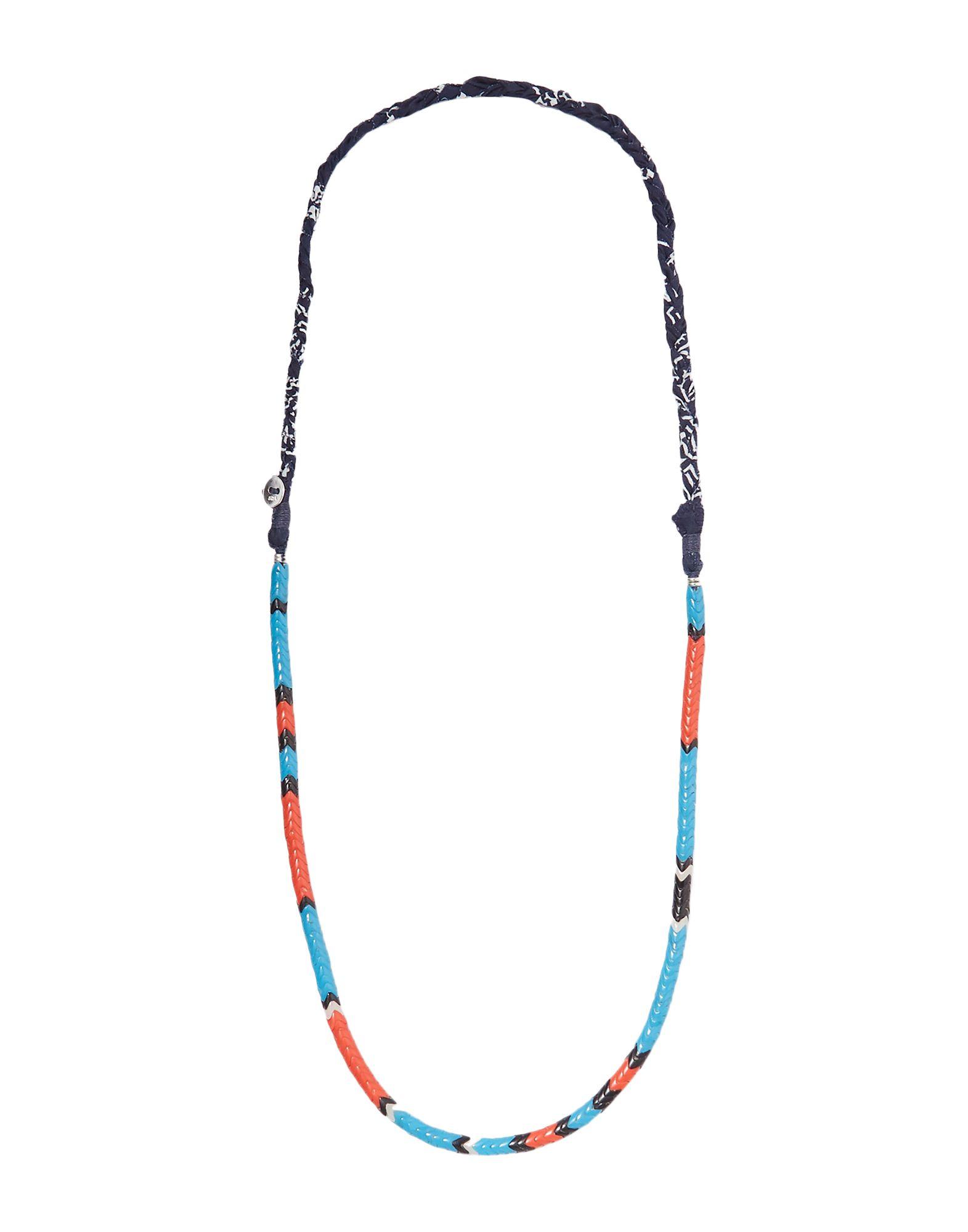《セール開催中》MIKIA レディース ネックレス アジュールブルー 紡績繊維 / ガラス / 真鍮/ブラス