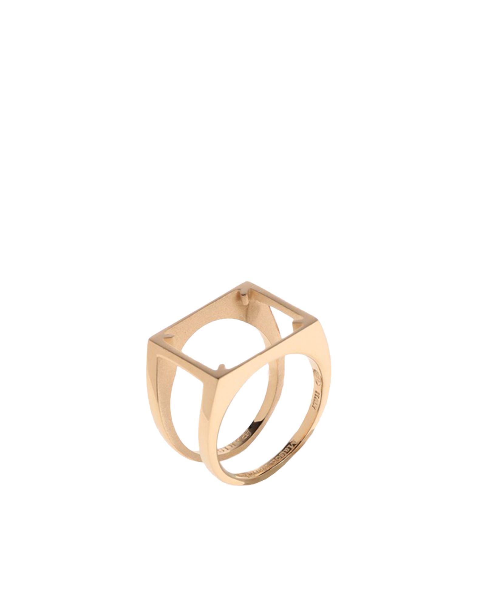 《セール開催中》MAISON MARGIELA レディース 指輪 ゴールド S シルバー925/1000 100%
