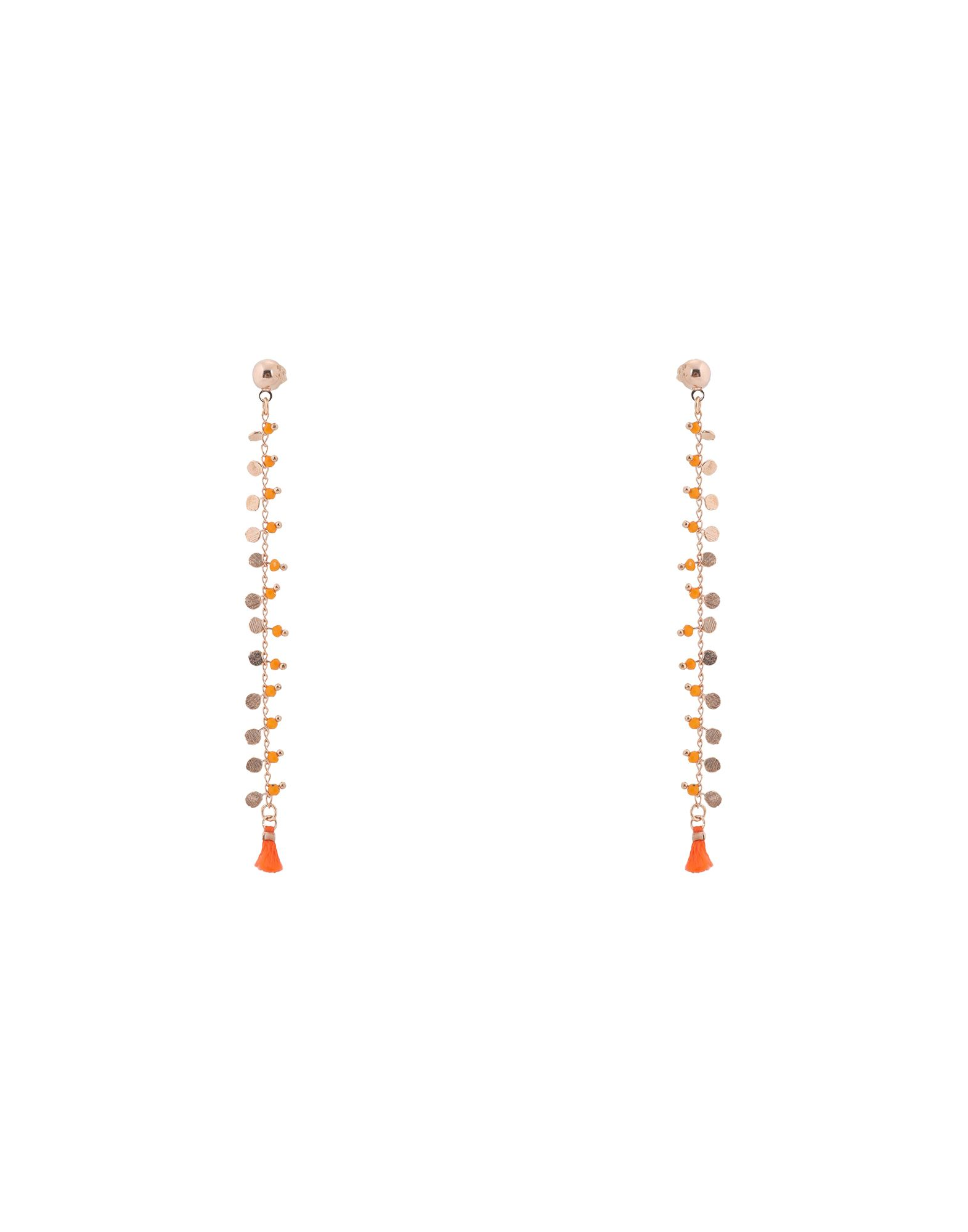 《セール開催中》FIRST PEOPLE FIRST レディース イヤリング オレンジ 真鍮/ブラス / スワロフスキー INDIE EARRINGS