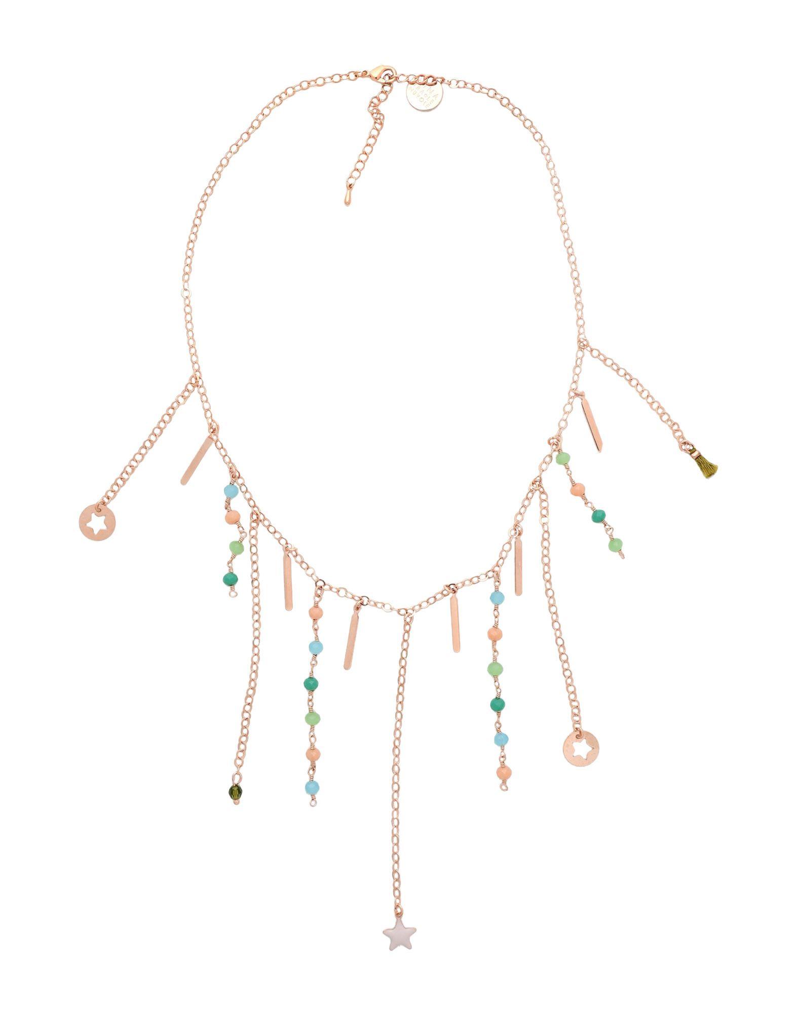 《セール開催中》FIRST PEOPLE FIRST レディース ネックレス ライトグリーン 真鍮/ブラス / スワロフスキー IBIZA SHORT NECKLACE