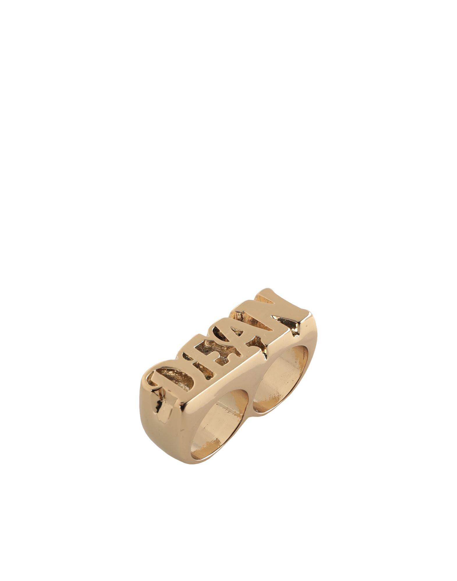 《セール開催中》DSQUARED2 メンズ 指輪 ゴールド M 金属