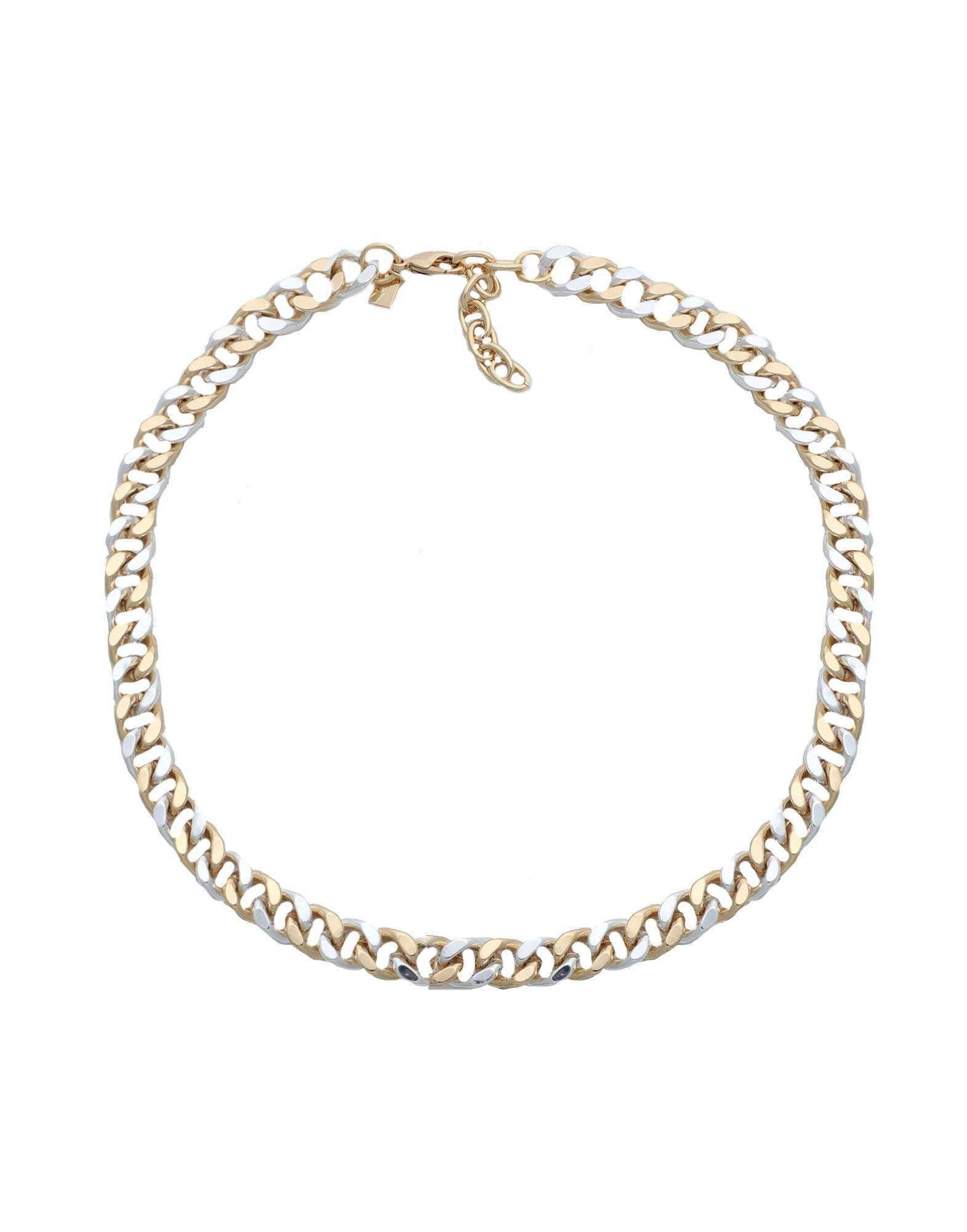 《セール開催中》CRYSTAL HAZE レディース ネックレス ゴールド 真鍮/ブラス / 18金メッキ DOMINIQUE