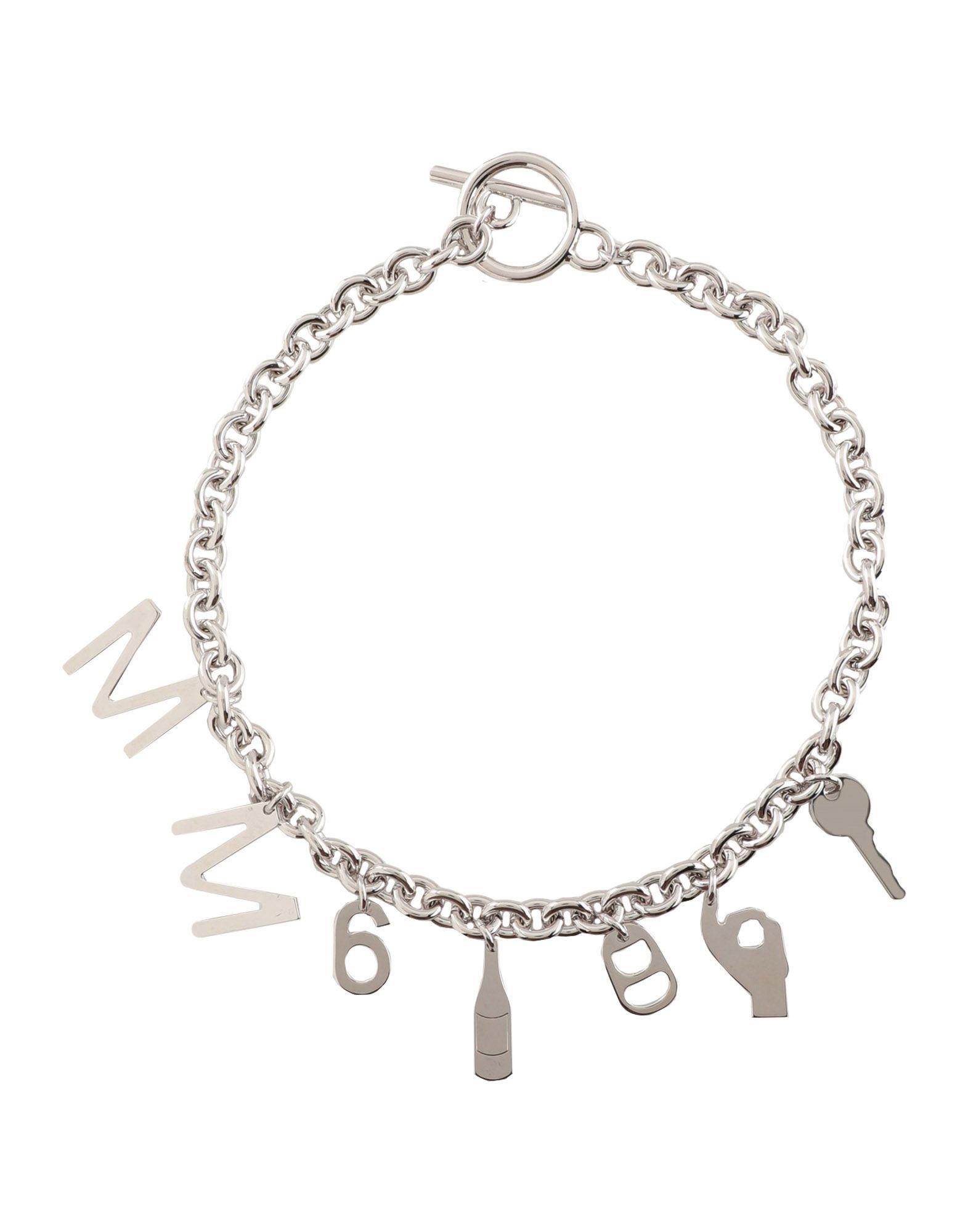 《セール開催中》MM6 MAISON MARGIELA レディース ネックレス シルバー 真鍮/ブラス 100%