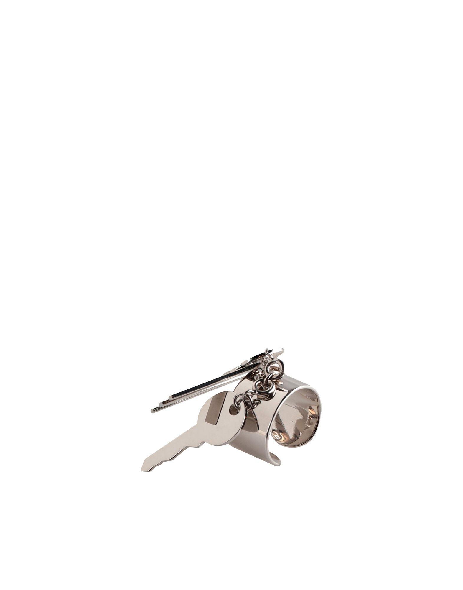 《セール開催中》MM6 MAISON MARGIELA レディース 指輪 シルバー S 真鍮/ブラス