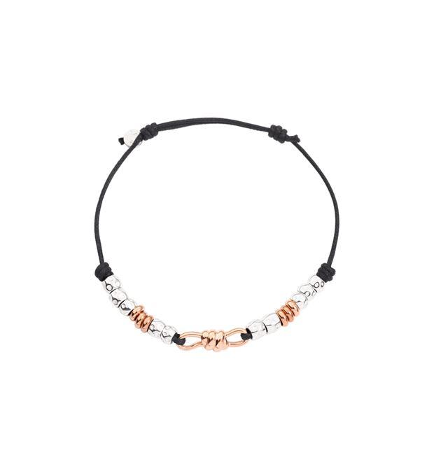DODO Bracelet E Dolphin two-tone cord bracelet  f