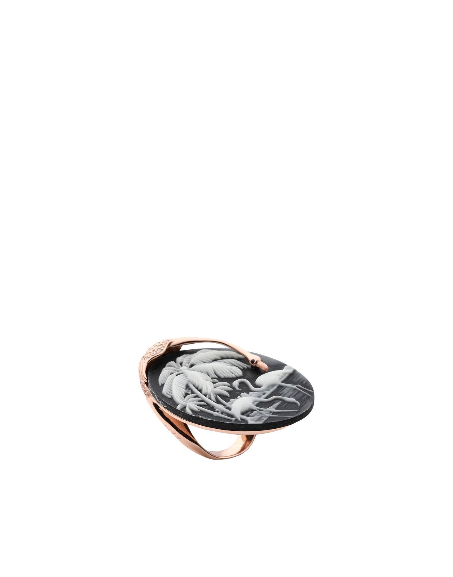 《セール開催中》FIRST PEOPLE FIRST レディース 指輪 カッパー 14 シルバー925/1000 / スピネル / ポリウレタン / ジルコン FLAMINGO
