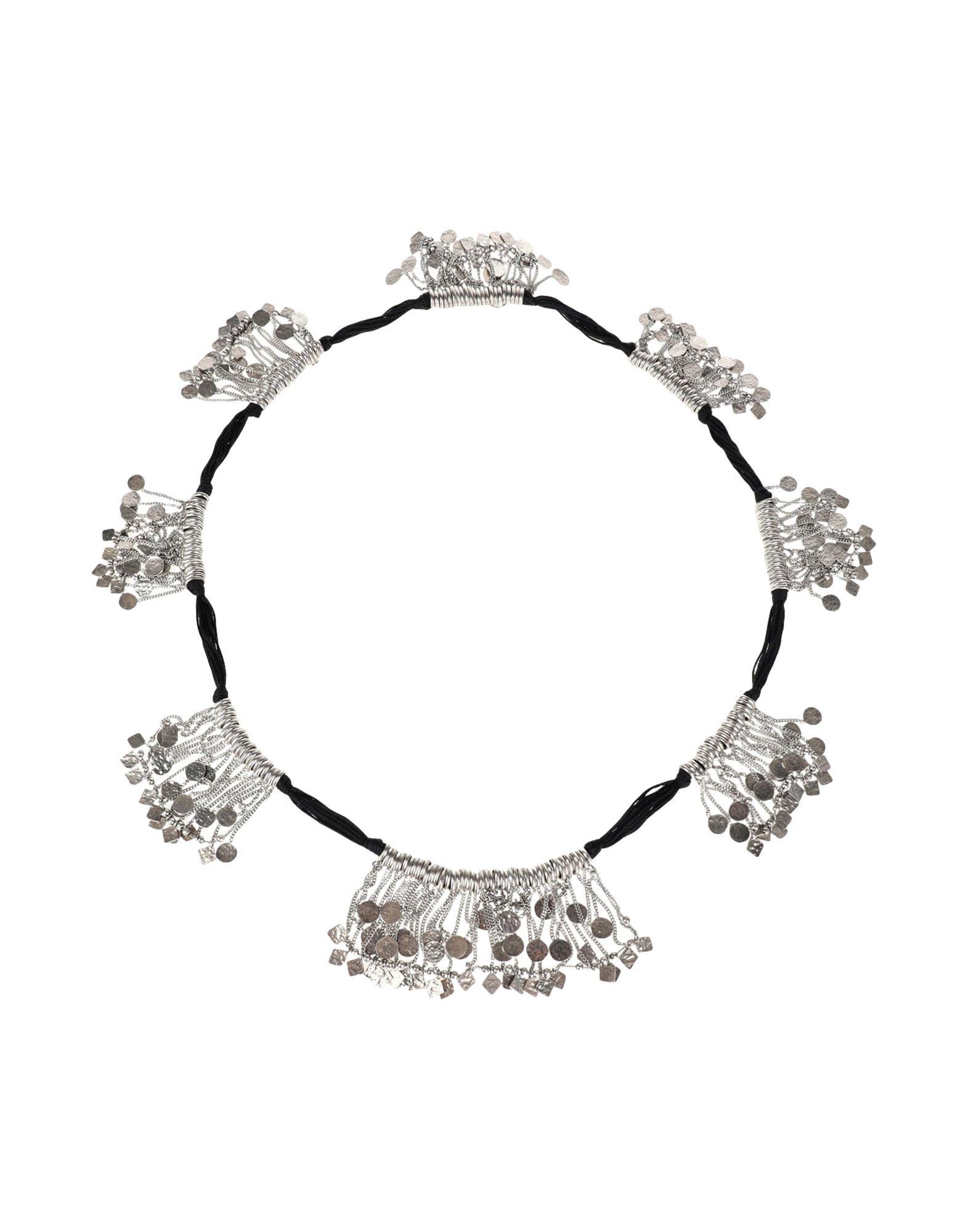 《セール開催中》SAINT LAURENT レディース ネックレス ブラック 真鍮/ブラス 100% / 紡績繊維