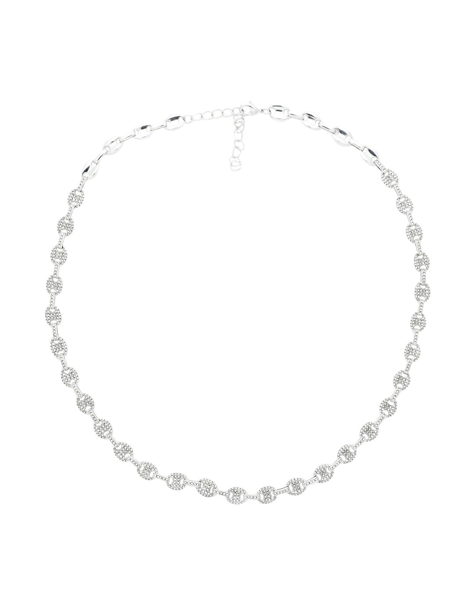 《セール開催中》LUV AJ レディース ネックレス シルバー 真鍮/ブラス / クリスタル